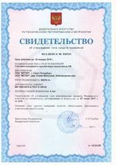 Свидетельство об утверждении типа средств измерений RU.C.29.001.A 53873/1 (Лист 1)